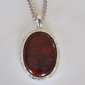 Jewelry - Red and Silver pendant necklace